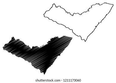 Alagoas (Region of Brazil, Federated state, Federative Republic of Brazil) map vector illustration, scribble sketch Alagoas map