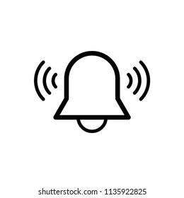 alarm bell vector icon