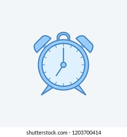alarm clock 2 colored line icon. Simple dark and light blue element illustration. alarm clock concept outline symbol design from education set