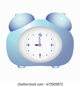 Alarm clock . The concept of time. Vector. Illustration.