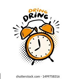 Alarm clock. Deadline, time symbol. Vector illustration