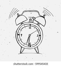 Alarm clock doodle illustration
