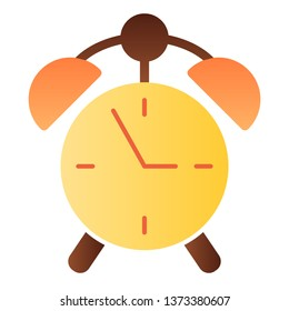 Alarm clock flat icon. Watch color icons in trendy flat style. Time gradient style design, designed for web and app. Eps 10
