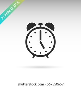 Alarm clock flat vector icon
