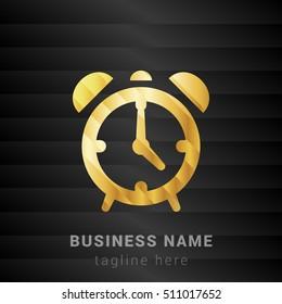 Alarm Clock Gold and Black silk fashion premium icon / Logo