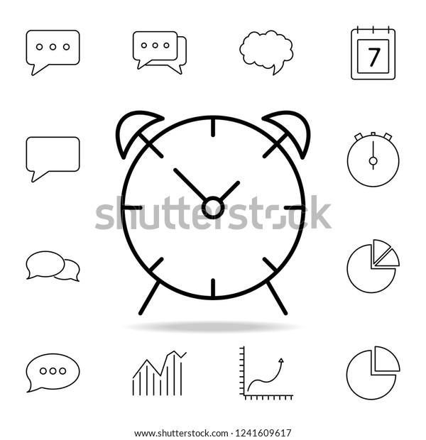 Alarm Clock Icon Detailed Set Simple Stock Vector (Royalty