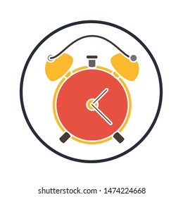 Alarm clock, icon. flat illustration of Alarm clock, vector icon. Alarm clock, sign symbol