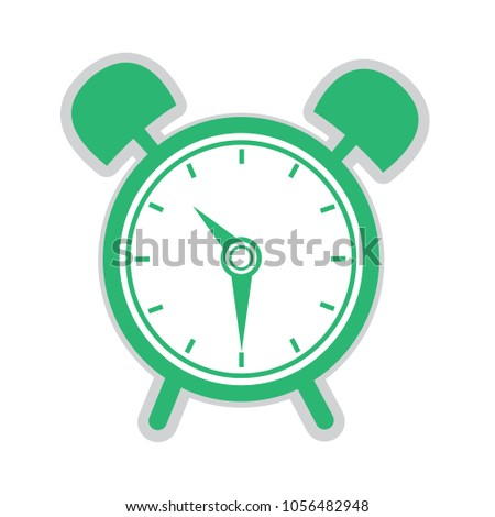 Alarm Clock Icon Isolated On White Stock Vector (Royalty
