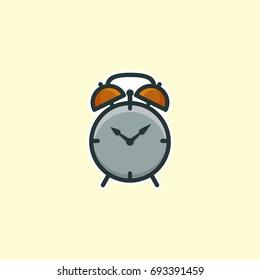 Alarm clock icon, logo concept - Vector Illustration