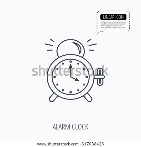 Alarm Clock Icon Mechanical Retro Time Stock Vector Royalty Free