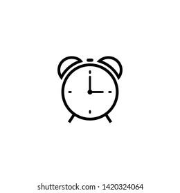 Alarm clock icon symbol vector for web