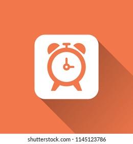 alarm clock icon. time sign