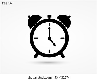Alarm clock icon, vector.