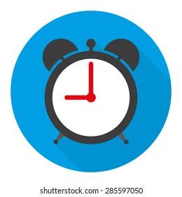 alarm clock icon vector illustration in flat