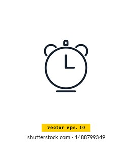 Alarm Clock Icon Vector Logo Design Template