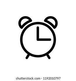 alarm clock icon vector template