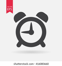 Alarm Clock icon vector icon, Wake up, get up concept, Time sign isolated on white background. Trendy Flat style for graphic design, Web site, UI. EPS10