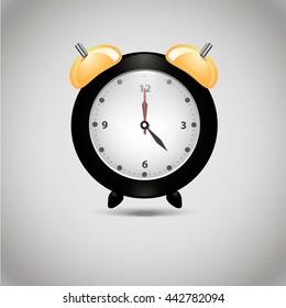 Alarm clock illustration.Vector