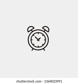 Alarm Clock linear outline vector icon. Alarm Clock concept stroke symbol design. Thin graphic elements vector illustration, outline pattern for your web site design, logo, app, UI. EPS 10.