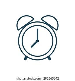 Alarm clock outline icon, modern minimal flat design style. Vector illustration, linear symbol
