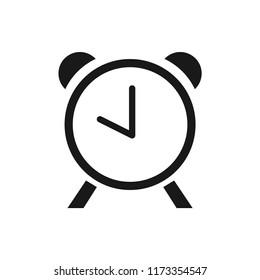 alarm clock vector icon 10 eps