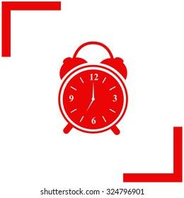 Alarm clock. Vector icon.