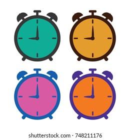 alarm clock vector icon