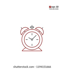 Alarm clock - vector icon. Symbol for web, infographics, print design and mobile UX/UI kit. Vector illustration, EPS10.