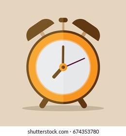 alarm clock. vector illustration.
