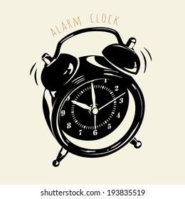 Alarm clock, vector illustration and design.