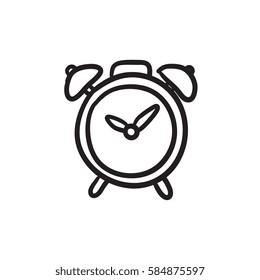 alarm clock vector sketch icon isolated stock vector royalty free Fire Alarm Inspection Form alarm clock vector sketch icon isolated on background hand drawn alarm clock icon alarm
