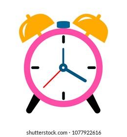 Alarm icon. Clock icon - Clock symbol, vector alarm illustration isolated