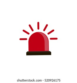 Alarm icon emergency sound bell and red alarm icon security reminder. Warn red alarm urgent protection icon. Attention red alarm. Police single icon, Fire alarm