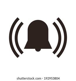 Alarm icon isolated on white background