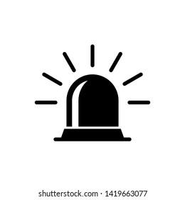 Alarm icon : siren medical symbol
