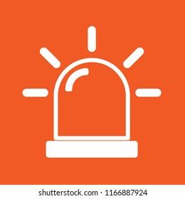 Alarm icon, stock vector illustration, EPS10.