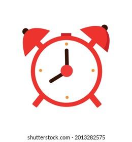 Alarm, oclock icon vector illustration, flat box on white background.