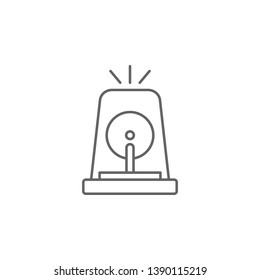 Alarm, police icon. Element of police icon. Premium quality graphic design icon. Signs and symbols collection icon for websites, web design, mobile app