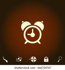 alarm Simple vector icon. Illustration symbol. Flat pictogram and bonus icons
