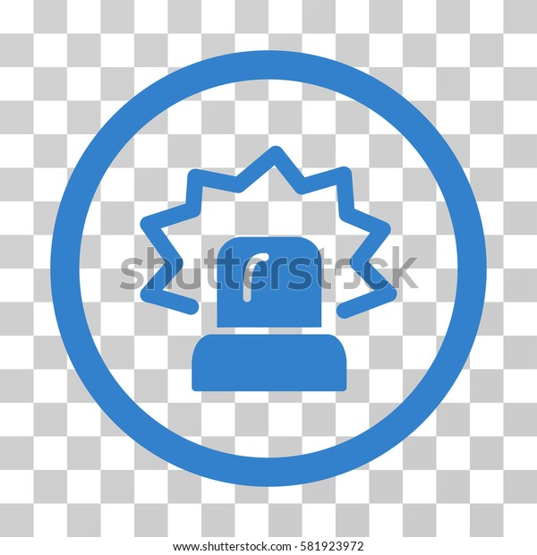 Alarm vector icon. Illustration style is a flat iconic cobalt symbol on a transparent background.