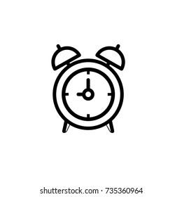 alarm-clock icon,vector illustration. Flat design style. vector clock icon illustration isolated on White background, clock icon Eps10. clock icons graphic design vector symbols