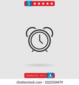 alarmclock vector icon