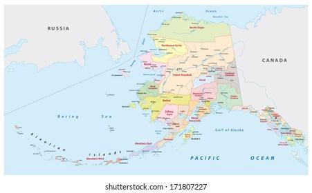 alaska administrative map
