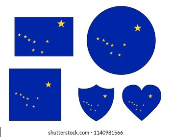 Alaska Flags Set