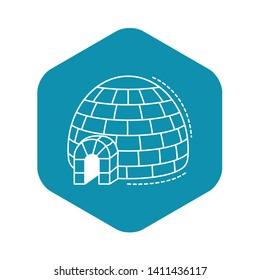 Alaska igloo icon. Outline alaska igloo vector icon for web design isolated on white background