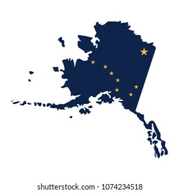 Alaska map icon. Vector illustration.