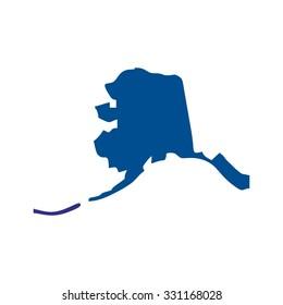 alaska map. alaska logo.