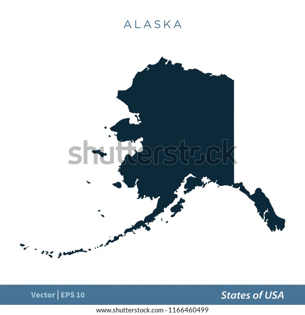 Alaska States Us Map Icon Vector Stock Image   Download Now