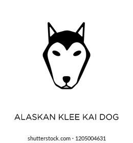 Alaskan Klee Kai dog icon. Alaskan Klee Kai dog symbol design from Dogs collection. Simple element vector illustration on white background.