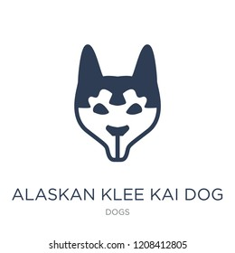 Alaskan Klee Kai dog icon. Trendy flat vector Alaskan Klee Kai dog icon on white background from dogs collection, vector illustration can be use for web and mobile, eps10